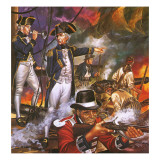 Nelson in the Battle of Trafalgar Giclee Print by Ron Embleton
