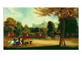 William Iv Driving in Windsor Park Giclee Print by James Pollard