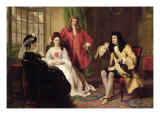 Lord Foppington Relating His Adventures Giclee Print by William Powell Frith