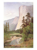 El Capitan, Yosemite Valley Premium Giclee Print by William Keith