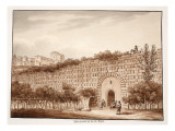 Substructions of the Via Appia, 1833 Giclee Print by Agostino Tofanelli