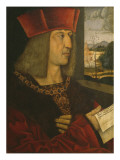 Emperor Maximilian I, Copy of a Lost Original Giclee Print by Bernhard Strigel