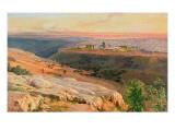 Jerusalem from the Mount of Olives, 1859 Giclée-Druck von Edward Lear