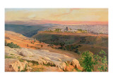 Jerusalem from the Mount of Olives, 1859 Premium Giclee Print by Edward Lear