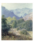 View of the San Gabriel Mountains Giclee Print by  Rose