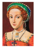 Queen Elizabeth as a Young Woman Giclee Print by Clive Uptton