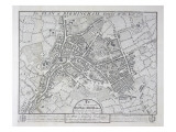 Plan of Birmingham, 1731, Published 1789 Giclee Print by William Westley