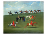 Race Horses Exercising in a Landscape Premium Giclee Print by  SEYMOUR