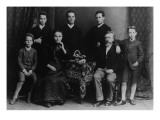 Wilhelm Liebknecht and His Family Giclee Print by  German photographer