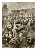 Sir Robert Peel in the House, 1846 Giclee Print by Walter Wilson
