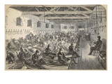 Dormitory at Coldbath Fields Prison Giclee Print by  English School