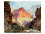 Under the Red Wall, Grand Canyon of Arizona, 1917 Premium Giclee Print by  Moran