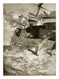 Hms Victoria Capsizing, 22nd June 1893 Giclee Print by William Heysham Overend