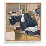 A Lawyer Addressing the Jury, 1900 Giclee Print by Louis Malteste