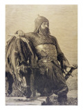 Russian Solider with His Horse, 1885 Giclee Print by Russian School
