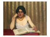 Reader with a Yellow Necklace, 1912 Giclee Print by Félix Vallotton