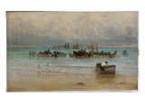 Loading Fish at Low Tide, St. Ives Giclee Print by William Banks Fortescue
