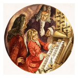 When They Were Young: Handel the Musician Giclee Print by Peter Jackson