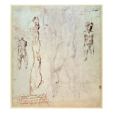 Anatomical Drawings with Accompanying Notes Giclee Print by Michelangelo Buonarroti