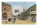 View of Harbour Street, Kingston, Jamaica Giclee Print by James Hakewill