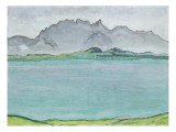 The Stockhorn Mountains and Lake Thun, 1911 Gicleetryck av Ferdinand Hodler