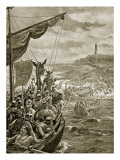 An Attack of the Danes on Ireland Giclee Print by Henry Payne