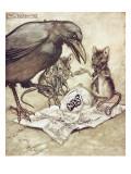 "Preposterous!"" Cried Solomon in a Rage"" Giclee Print by Arthur Rackham"
