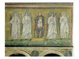 Madonna and Child Enthroned and Flanked by Angels Giclee Print by  Byzantine School