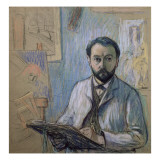 Self Portrait in His Studio, 1889 Giclee Print by Claude-emile Schuffenecker