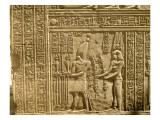 Relief Depicting Ptolemy Viii Euergetes Ii Giclee Print by  Egyptian Ptolemaic Period