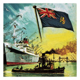 The Port of London Authority or Pla Giclee Print by  Escott