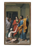 St. Peter and St. John Healing the Paralytic, 1783 Reproduction procédé giclée par Francisco Javier Ramos Y Albertos