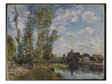Moret, View of the Loing, Afternoon in May Giclee Print by Alfred Sisley