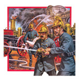 The London Metropolltan Fire Brigade Giclee Print by  English School