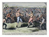 John Heenan V. Tom Sayers, 17th April, 1860 Reproduction procédé giclée par  English School