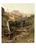 Mount Tamalpais from Lagunitas Creek, 1878 Premium Giclee Print by William Keith