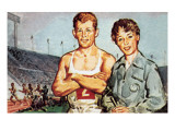Robbie Brightwell and Ann Packer Premium Giclee Print by  McConnell