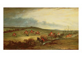 The Quorn in Full Cry Near Tiptoe Hill Premium Giclee Print by John E. Ferneley