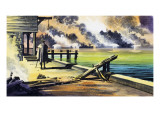 The Great Fire of London, 1966 Giclee Print by Ron Embleton