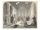 Ironing-Room at the Brixton Prison Giclee Print by  English School
