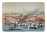 The Bombardment of Sveaborg, 5th August 1855, 1856 Giclee Print by Louis Le Breton