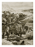 The Square at Abu Kru, January 19th 1885 Giclee Print by Stanley L. Wood
