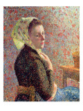 Woman Wearing a Green Headscarf, 1893 Giclee Print by Camille Pissarro