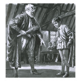 Shakespeare Being Disciplined as a Boy Giclee Print by C.l. Doughty