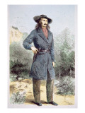 The First Published Picture of 'Wild Bill' Hickok Giclee Print by Alfred Rudolf Waud