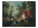 Departure for the Island of Cythera Giclee Print by Jean-Baptiste Pater