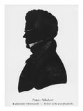 Silhouette of Franz Peter Schubert Giclee Print by  Austrian School