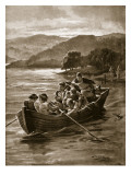 Elfwald's Sons Drowned in Windermere Giclee Print by Henry Payne