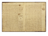 A Page from the Codex Leicester, 1508-12 Giclee Print by Leonardo da Vinci