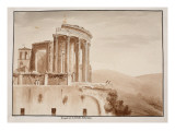 The Temple of the Tiburtine Sibyl, 1833 Giclee Print by Agostino Tofanelli